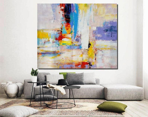Modern Wall Painting, Contemporary Acrylic Art, Paintings for Bedroom, Hand Painted Canvas Painting-Grace Painting Crafts