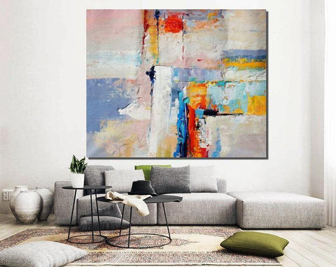 Large Paintings for Dining Room, Living Room Canvas Painting, Contemporary Abstract Art, Simple Acrylic Painting-Grace Painting Crafts