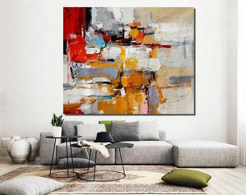 Contemporary Wall Art, Modern Acrylic Painting, Extra Large Paintings for Living Room, Hand Painted Abstract Painting-Grace Painting Crafts