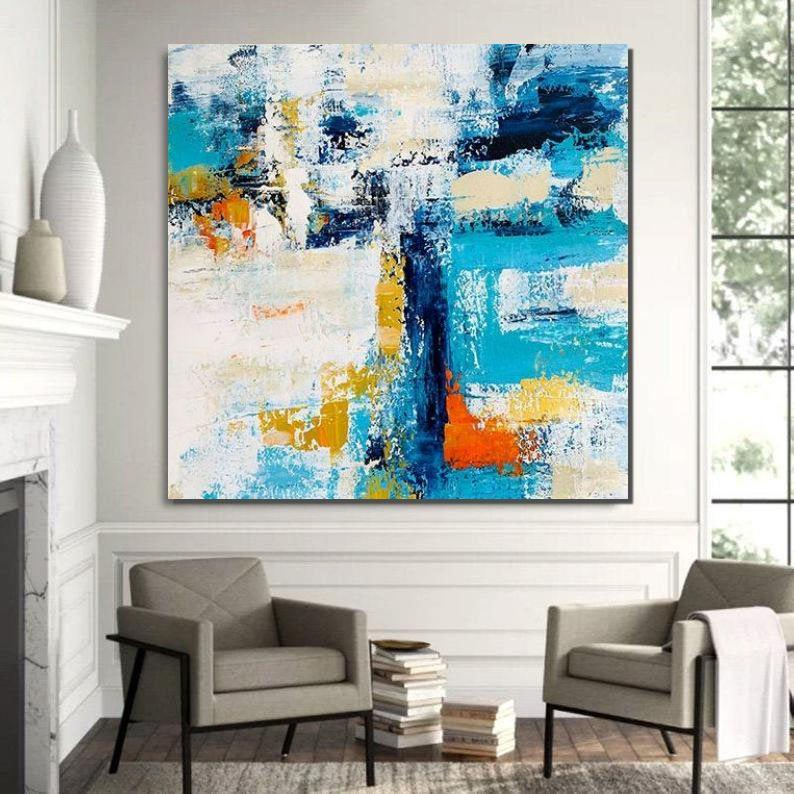 Huge Abstract Artwork, Extra Large Paintings for Living Room, Abstract Wall Painting, Modern Canvas Painting-Grace Painting Crafts