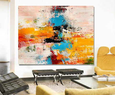 Acrylic Abstract Art, Extra Large Paintings, Modern Abstract Acrylic Painting, Living Room Wall Painting-Grace Painting Crafts