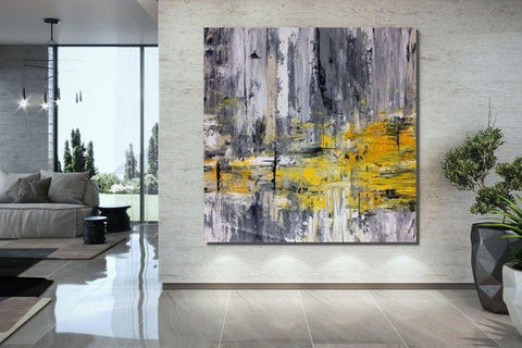 Bedroom Wall Painting, Large Paintings for Living Room, Hand Painted Acrylic Painting, Modern Contemporary Art-Grace Painting Crafts