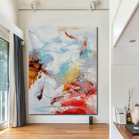 Wall Canvas Painting, Modern Paintings for Bedroom, Hand Painted Acrylic Painting, Extra Large Abstract Artwork-Grace Painting Crafts