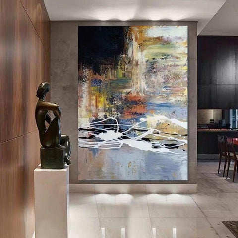 Wall Art Paintings, Hand Painted Acrylic Painting, Huge Abstract Painting, Extra Large Paintings for Living Room-Grace Painting Crafts