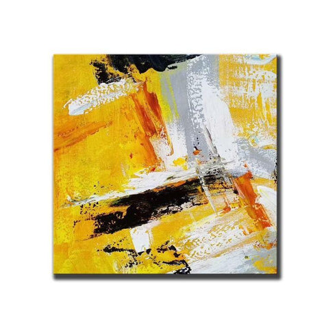 Abstract Wall Painting for Living Room, Acrylic Paintings for Dining Room, Hand Painted Acrylic Painting, Modern Contemporary Artwork-Grace Painting Crafts