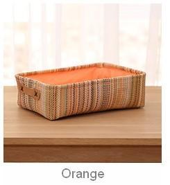 Woven Straw Basket with Lining, Storage Basket, Rectangle Basket-Grace Painting Crafts