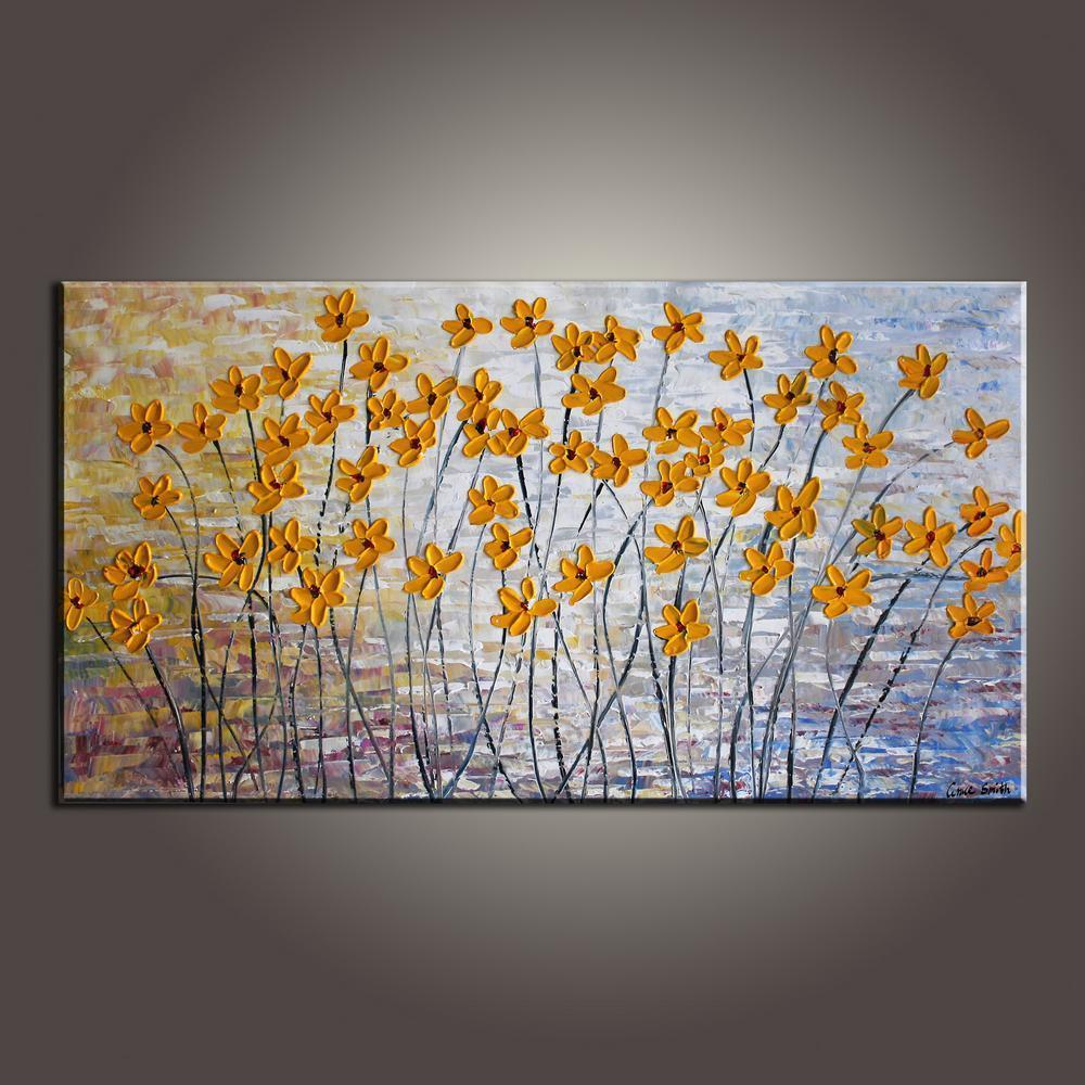 Art Painting, Flower Art, Modern Art, Contemporary Art, Abstract Art Painting, Canvas Wall Art, Living Room Wall Art, Canvas Art-Grace Painting Crafts
