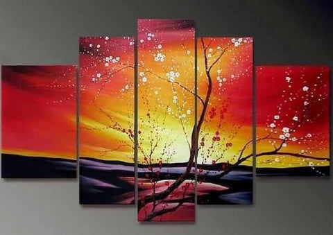 Flower Tree Painting, Heavy Texture Art, Abstract Art, Abstract Painting, Canvas Painting, Wall Art, Large Abstract Art, Acrylic Art, Bedroom Wall Art-Grace Painting Crafts