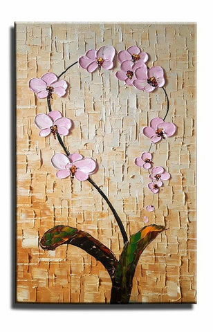 Canvas Painting, Heavy Texture Painting, Wall Art, Kitchen Wall Art, Flower Painting, Canvas Wall Art-Grace Painting Crafts