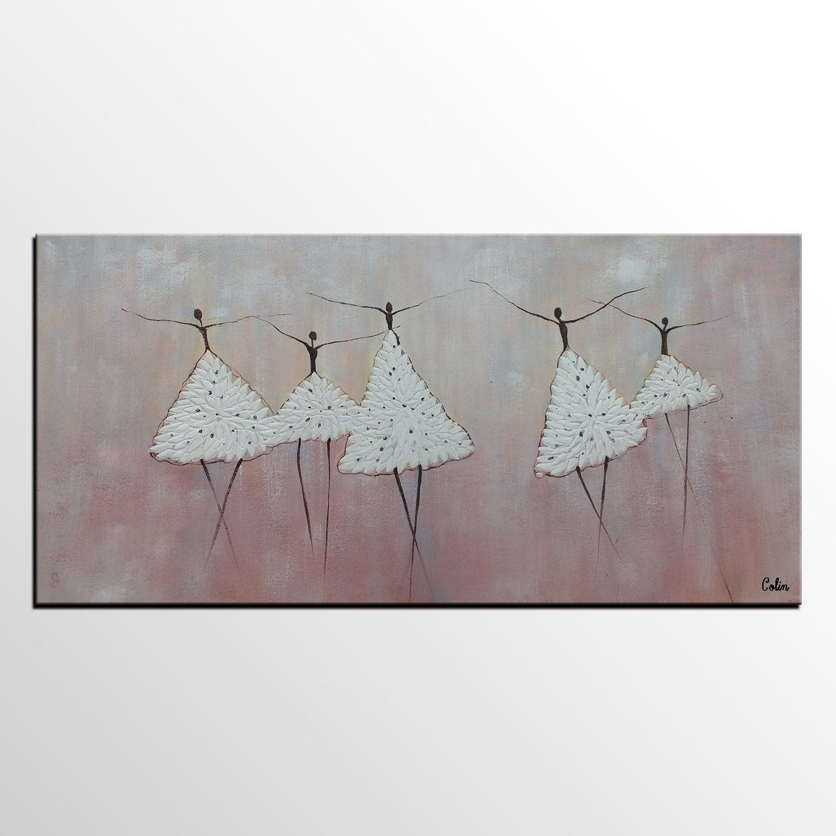 Painting on Sale, Ballet Dancer Art, Abstract Art Painting, Canvas Wall Art, Bedroom Wall Art, Canvas Art, Contemporary Art-Grace Painting Crafts