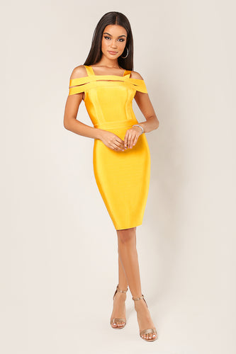 Multi Band Cold Shoulder Bandage Dress