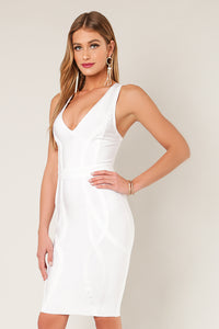 Sweetheart Neckline Thick Strap Dress Bandage Dress