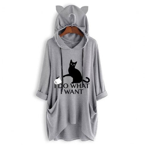 I DO WHAT I WANT Cat Ear Hoodie (60% OFF TODAY!)
