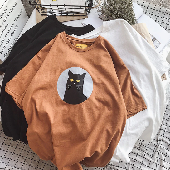 Adorable Black Cat T-Shirt (60% OFF TODAY!)