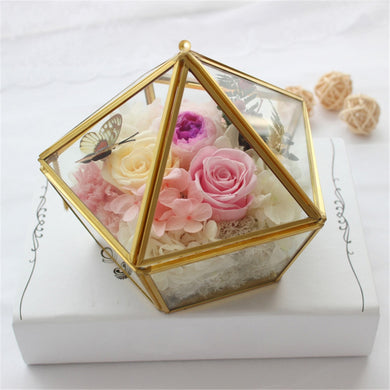 Geometric Flower Room Transparent