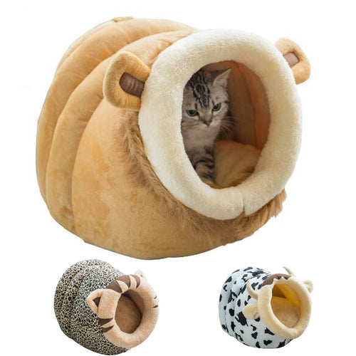 Winter Warm Cat Cave House Pet