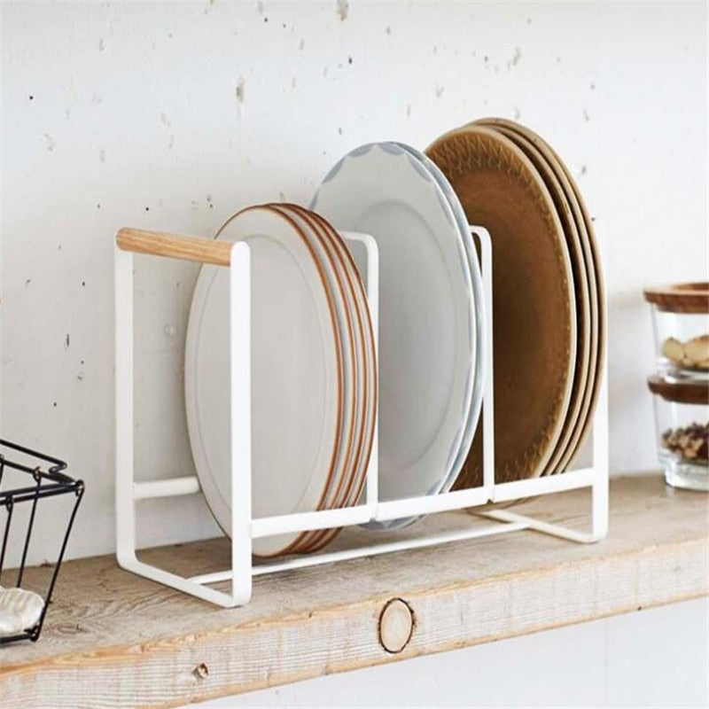 1PC Plates Kitchen Storage Rack