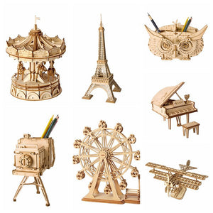 Wooden Miniature Figurine 3D