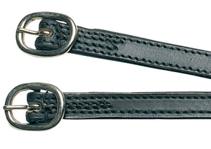 Kincade Stitched Leather Spur Straps