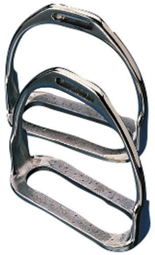 Korsteel Stirrup Irons 2 Bar Stainless Steel