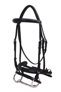 Platinum Wide Raised Crank Hanoverian Bridle
