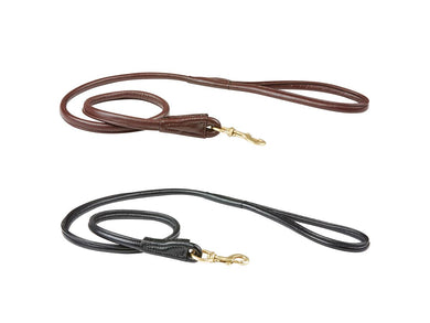 WB Rolled Leather Dog Lead