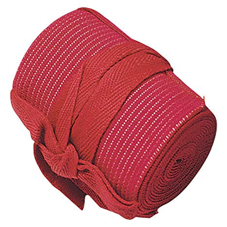 COTTON/ELASTIC BANDAGE w TIES