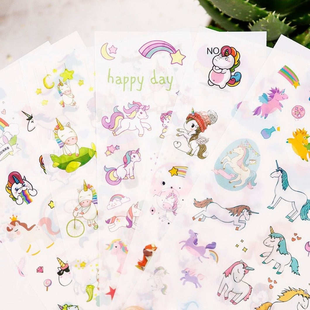 Unicorn Rainbow Sticker Sheets