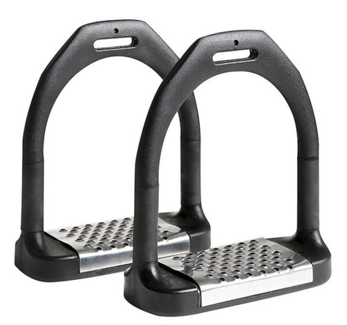 Polymer Flexi Stirrup Irons Wide Tread