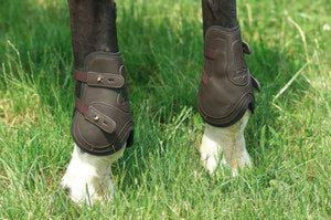Leather Look Fetlock Boots