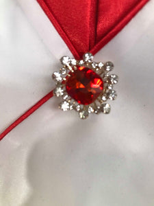 Showgirl Red Center Brooch