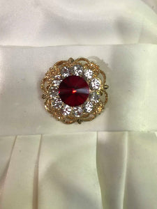 Showgirl Red and Gold Brooch