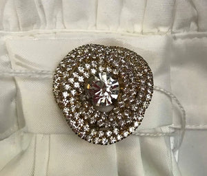 Showgirl French Knot Diamante Brooch