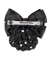 Load image into Gallery viewer, BUN NET WITH DECORATIVE VELVET BOW AND CLASP