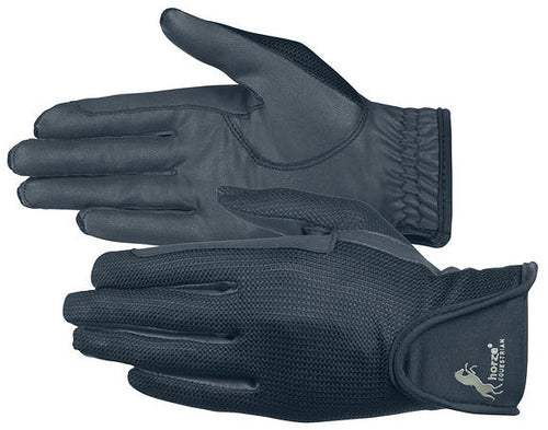 Horze Leather Mesh Gloves