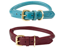 Load image into Gallery viewer, WB Rolled Leather Dog Collar