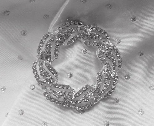 EQUETECH CRYSTAL GARLAND STOCK PIN