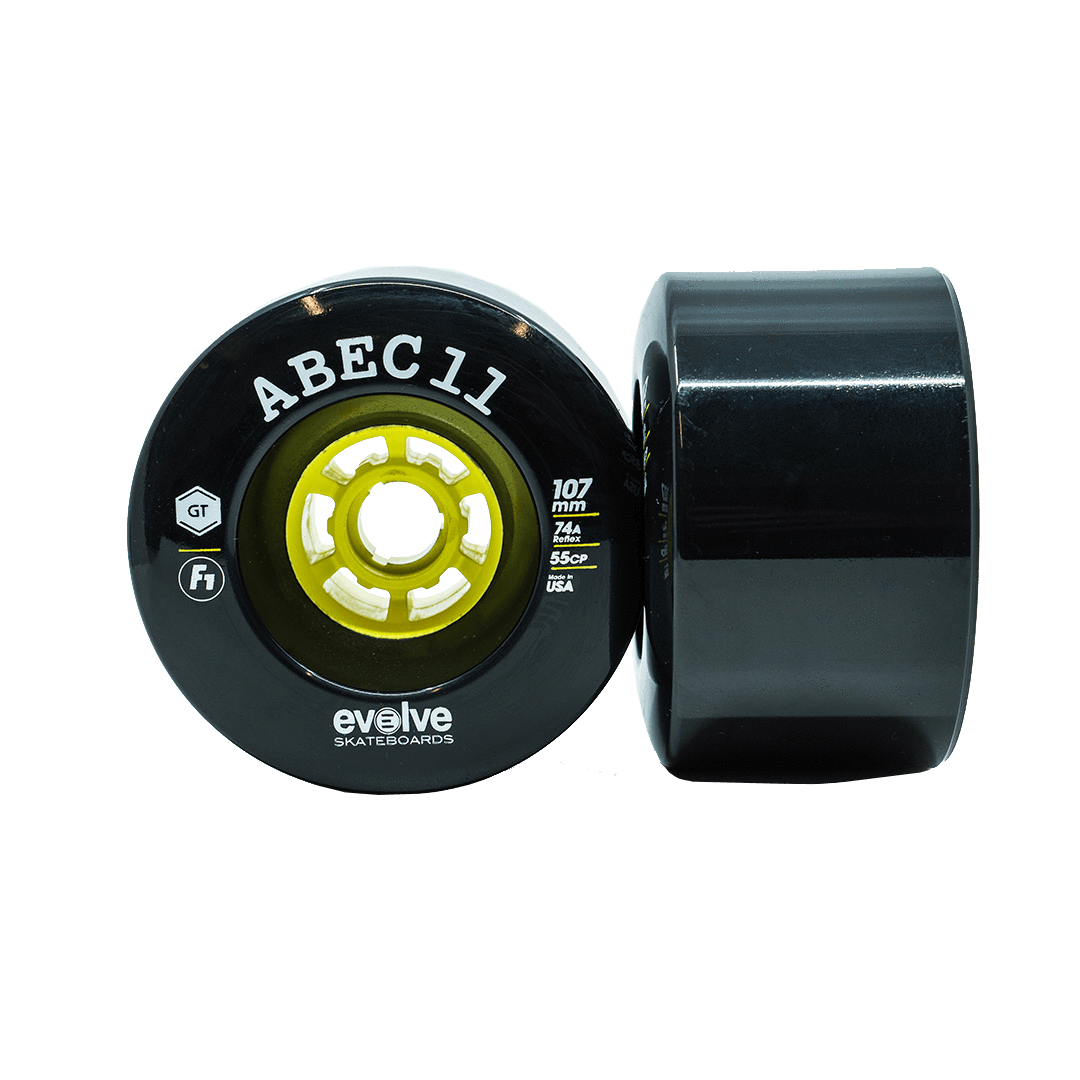 Evolve F1 Street Wheels Black (107mm, 74a)