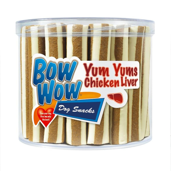 Bow Wow Yum Yums Chicken Liver, 25 packs of 40g X 35