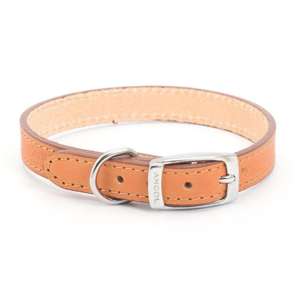 Ancol Leather Collar Tan, 20-26cm size 1