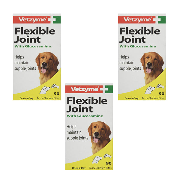Vetzyme Flexible Joint With Glucosamine Tablets 30s 90s 270s