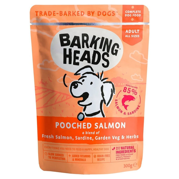 Barking Heads Pooched Salmon Pouch (Formally Fusspot tins), 300g X 10