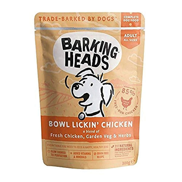 Barking Heads Bowl Lickin' Chicken Pouch (Formally Tender Loving Care tins), 300g X 10