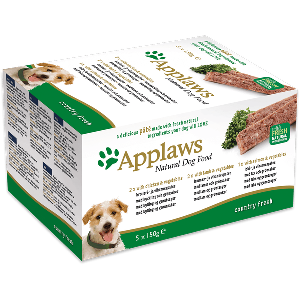 Applaws Dog Pate Country Selection Multipack 5 Pack, 150g