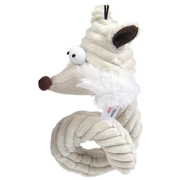 "Animate Cord Curly Fox 7.5"" Dog Puppy Toy"