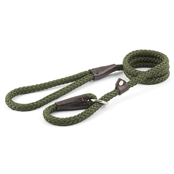 Ancol Rope Slip Lead Green 1.2x120cm