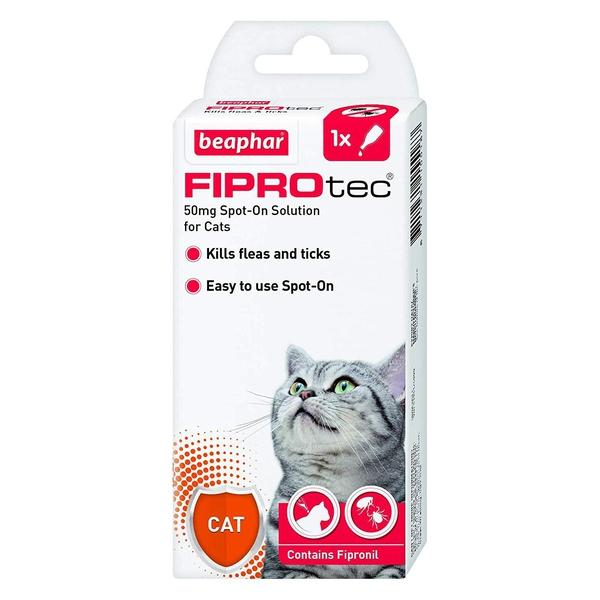 Beaphar FIPROtec Spot-On for Cats - Various Treatment Sizes