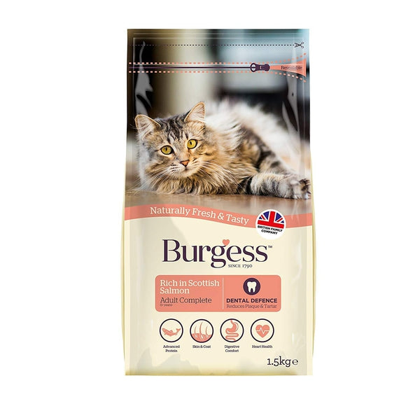 Burgess Adult Cat Scottish Salmon, 1.5kg