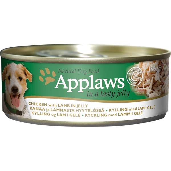 Applaws Dog Chicken & Lamb Jelly, 156g X 12