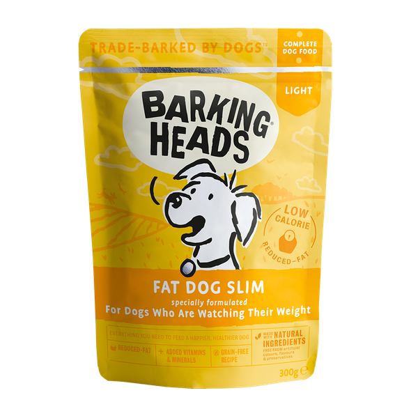 Barking Heads Fat Dog Slim Pouch, 300g X 10
